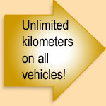 Unlimited kilometers on all vehicles!
